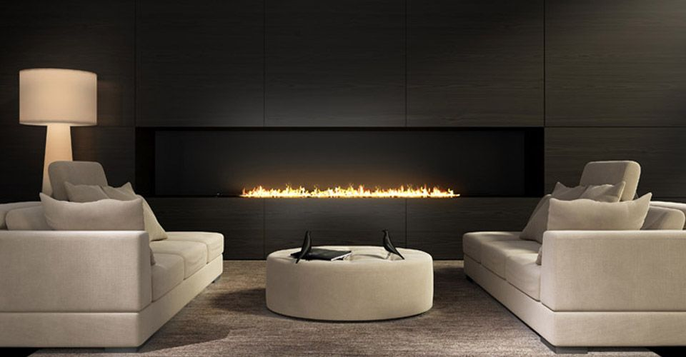 gas fireplace in nice living room